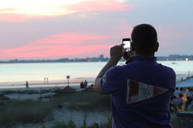 Coucher de soleil sur la plage des Libraires - Pornichet