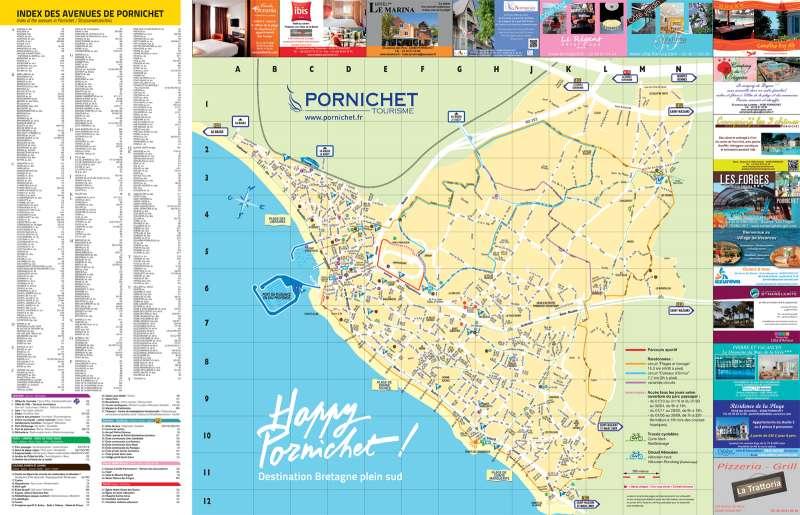 Plan de ville - Pornichet